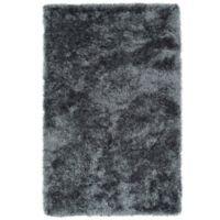 Kaleen Posh 2-Foot x 3-Foot Shag Accent Rug in Grey