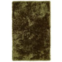 Kaleen Posh 2-Foot x 3-Foot Shag Accent Rug in Olive