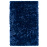 Kaleen Posh 3-Foot x 5-Foot Shag Area Rug in Blue