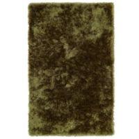 Kaleen Posh 3-Foot x 5-Foot Shag Area Rug in Olive