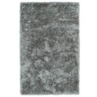 Kaleen Posh 5-Foot x 7-Foot Shag Area Rug in Silver