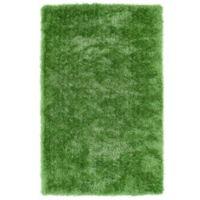 Kaleen Posh 5-Foot x 7-Foot Shag Area Rug in Lime Green