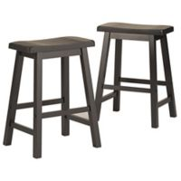 Verona Home Calera Saddle Counter Stools in Midnight (Set of 2)