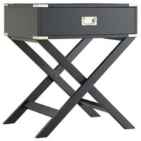 Verona Home Callie Campaign Accent Table in Midnight