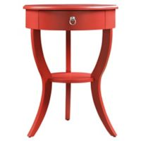 Veronica Home Jolene Accent Table in Red