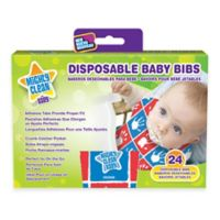Mighty Clean Baby™ 24-Pack Disposable Baby Bibs