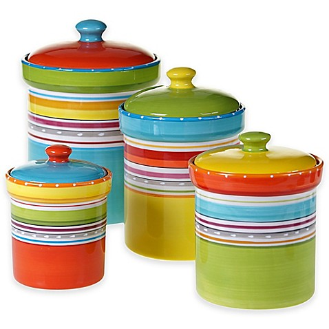 colorful kitchen canister sets mariachi 4 canister set in multi bed bath amp beyond 5569
