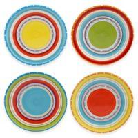 Mariachi 4-Piece Canapé Plate Set in Multi