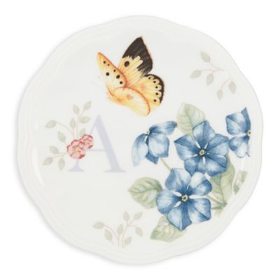 Lenox® Butterfly Meadow® Monogrammed Letter  A  ...  sc 1 st  Bed Bath u0026 Beyond : monogrammed dinnerware - pezcame.com