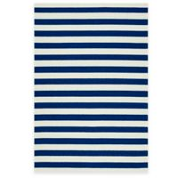 Kaleen Escape Stripes 2-Foot x 3-Foot Indoor/Outdoor Rug in Navy