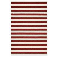 Kaleen Escape Stripes 2-Foot x 3-Foot Indoor/Outdoor Rug in Red
