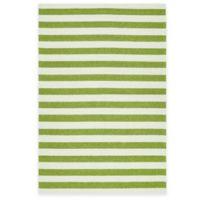 Kaleen Escape Stripes 5-Foot x 7-Foot 6-Inch Indoor/Outdoor Rug in Green