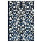 Kaleen A Breath of Fresh Air Henna 2-Foot 1-Inch x 4-Foot Indoor/Outdoor Accent Rug in Navy