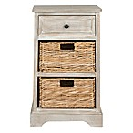 Safavieh Carrie Side Storage Table in White
