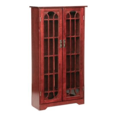 Charmant Southern Enterprises Wood Grayson Window Pane Media Cabinet In Traditional  Cherry