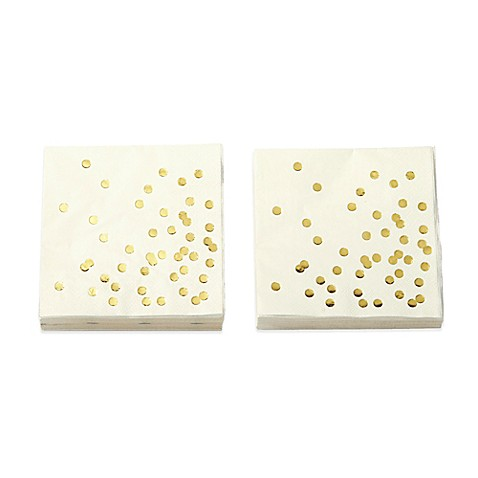 Kate spade new york 40 count confetti dots cocktail for Bed bath and beyond kate spade