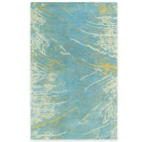 Kaleen Brushstrokes Marble 2-Foot x 3-Foot Accent Rug in Blue