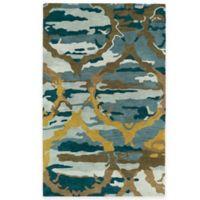 Kaleen Brushstrokes Ikat 5-Foot x 7-Foot 9-Inch Area Rug in Blue