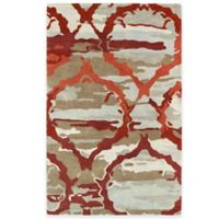 Kaleen Brushstrokes Ikat 5-Foot x 7-Foot 9-Inch Area Rug in Red