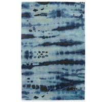 Kaleen Brushstrokes Dye 2-Foot x 3-Foot Accent Rug in Blue