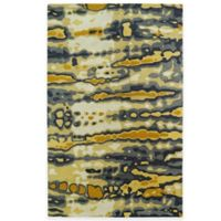 Kaleen Brushstrokes Dye 5-Foot x 7-Foot 9-Inch Area Rug in Gold
