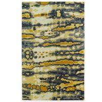 Kaleen Brushstrokes Dye 8-Foot x 11-Foot Area Rug in Gold