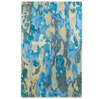 Kaleen Brushstrokes Tribal 5-Foot x 7-Foot 9-Inch Area Rug in Blue