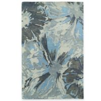 Kaleen Brushstrokes Floral 2-Foot x 3-Foot Accent Rug in Grey