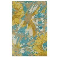 Kaleen Brushstrokes Floral 5-Foot x 7-Foot 9-Inch Area Rug in Gold