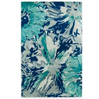 Kaleen Brushstrokes Floral 5-Foot x 7-Foot 9-Inch Area Rug in Blue