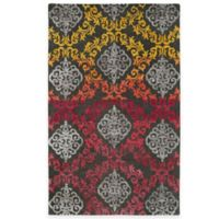 Kaleen Divine Medallion Damask 5-Foot x 7-Foot 9-Inch Area Rug in Fire