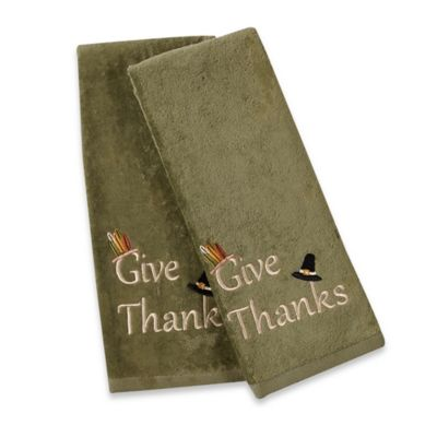 Give Thanks Hand Towels Set Of 2