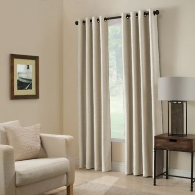 Paradise 63 Inch Room Darkening Window Curtain Panel In Ivory