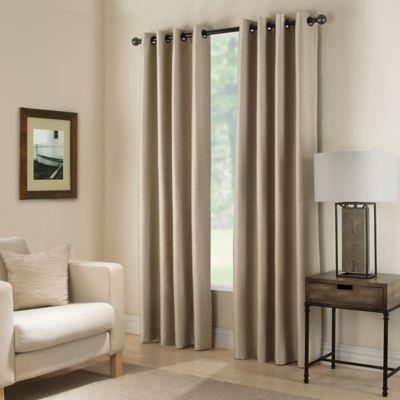 paradise 84inch room darkening window curtain panel in flax