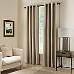 Paradise 63-Inch Room Darkening Grommet Top Window Curtain Panel in Flax