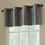 Paradise Room Darkening 52-Inch Grommet Window Valance in Pepper