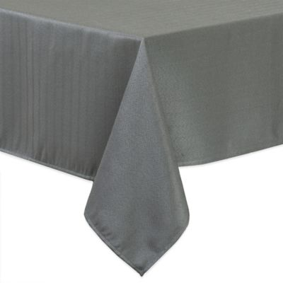 Windsor Stain Resistant 70 Inch X 120 Inch Tablecloth In Charcoal