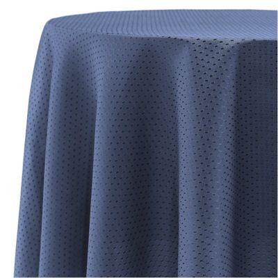 McKenna 70 Inch Round Tablecloth In Blue