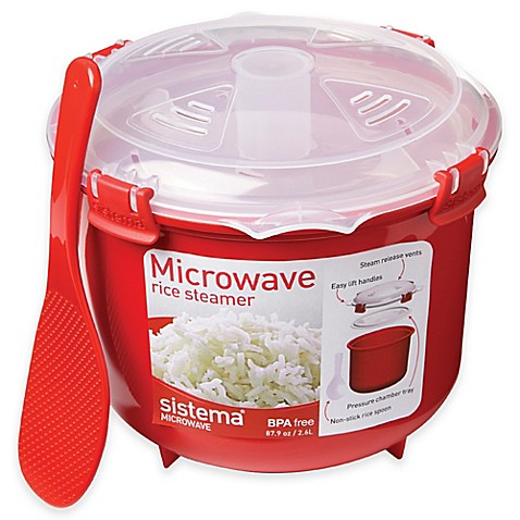 buy sistema 2 6 liter microwave rice steamer from bed. Black Bedroom Furniture Sets. Home Design Ideas