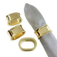 Wamsutta® Collection Oval Napkin Ring in Gold
