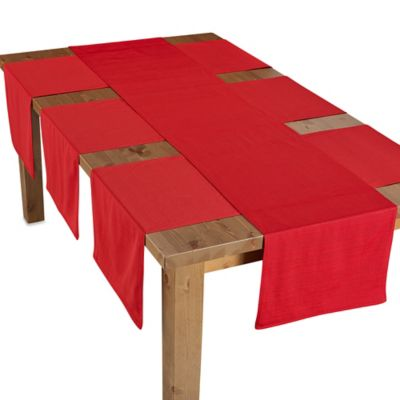West End 4 Piece Table Runner Set In Red
