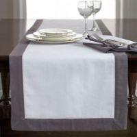 Wamsutta® Bordered Linen 90-Inch Table Runner in White