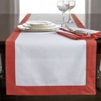 Wamsutta® Bordered Linen 108-Inch Table Runner in Rust