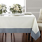 Wamsutta® Bordered Linen 70-Inch x 90-Inch Oblong Tablecloth in Blue