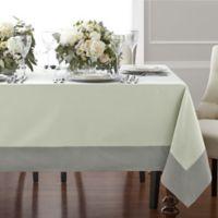 Wamsutta® Bordered Linen 90-Inch Square Tablecloth in Sage