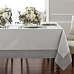 Wamsutta® Bordered Linen 70-Inch x 90-Inch Oblong Tablecloth in Grey