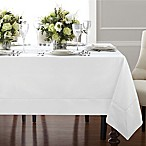 Wamsutta® Bordered Linen 70-Inch x 90-Inch Oblong Tablecloth in White
