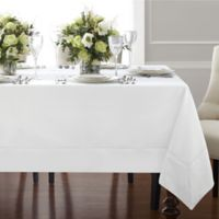 Wamsutta® Bordered Linen 90-Inch Square Tablecloth in White