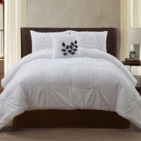 VCNY London 4-Piece King Comforter Set in White