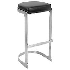 Lumisource Demi Stainless Steel Bar Stools Set Of 2